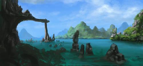 Lagoon Islands by artozi