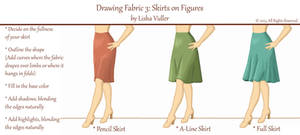 Drawing Fabric 3: Skirts on Figures