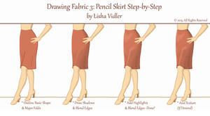 Drawing Fabric 3: Pencil Skirt Tutorial by Yesterdays-Thimble