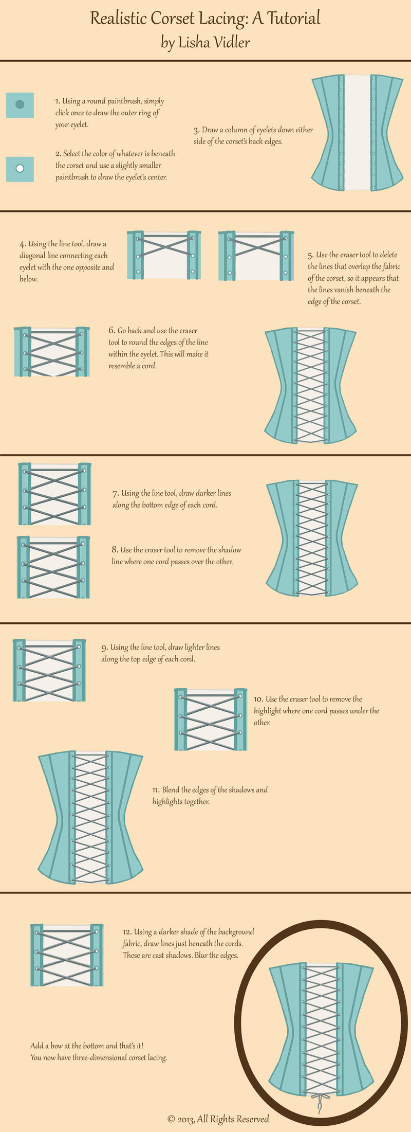 Corset Lacing Tutorial