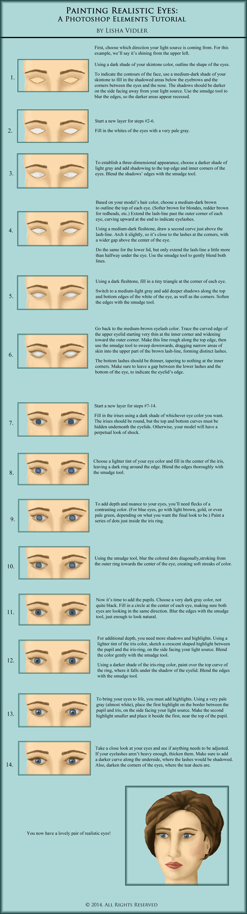 Painting Realistic Eyes: A Tutorial