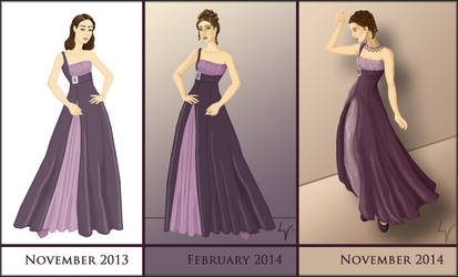 Then and Now: Priya by Yesterdays-Thimble