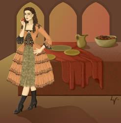 PotO Aminta Sketch57 by Yesterdays-Thimble