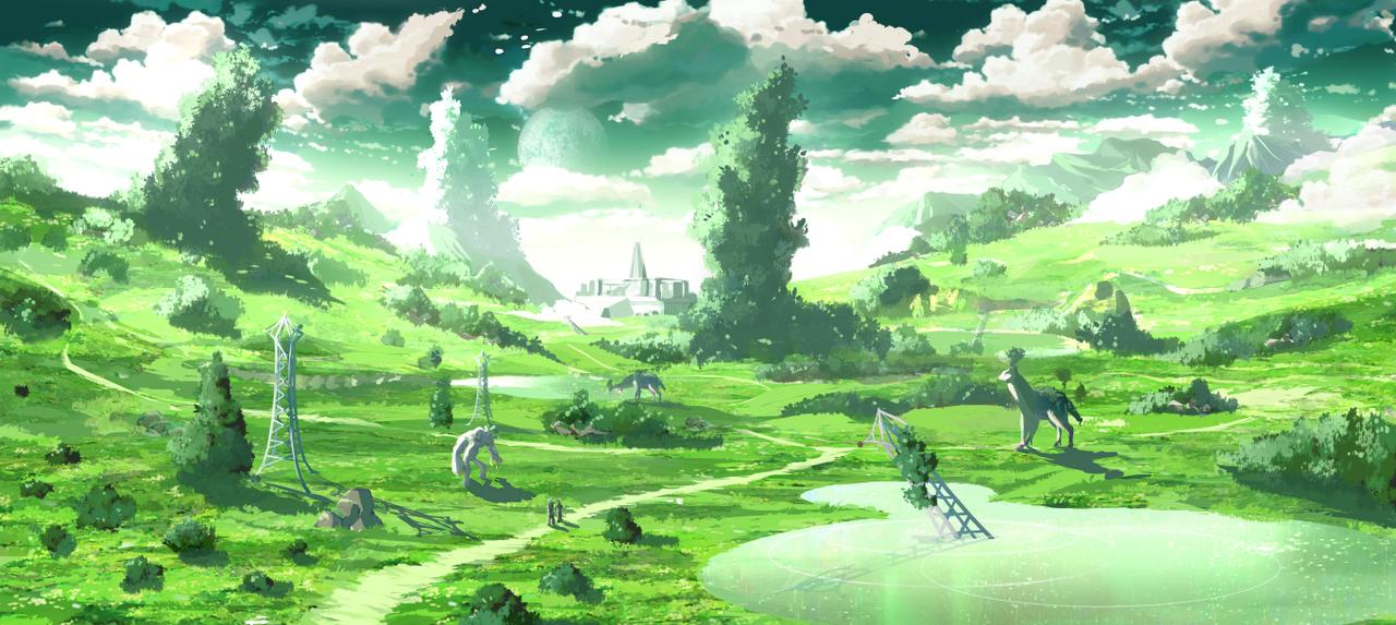 Overworld Speed painting by Rbz-art