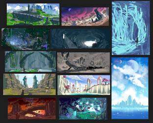 Rough Fantasy environments by RatonBallZ