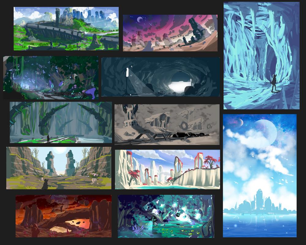 Rough Fantasy environments by Rbz-art