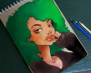 Green Hair by Dream-Sight