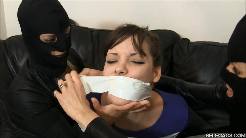 Tape Gagged By Catsuit Burglars by Selfgags
