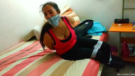 Bound And Gagged MILF In Distress by Selfgags