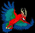 green winged peryton by Idaglentvor123