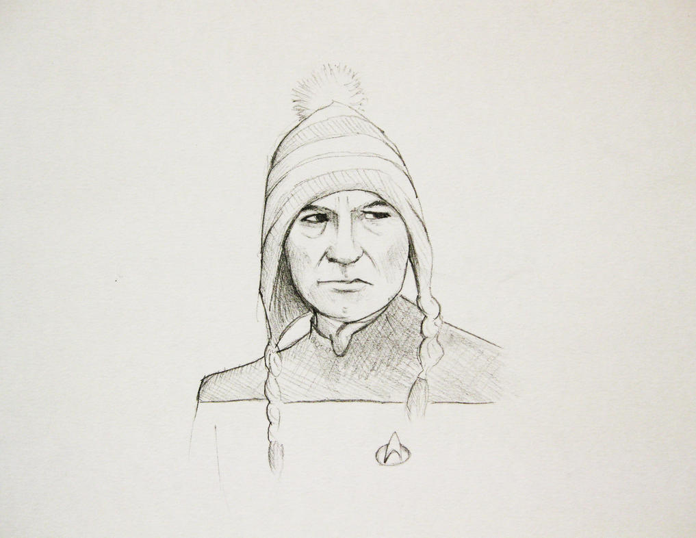 Picard in a woolly hat by OcularReverie on DeviantArt