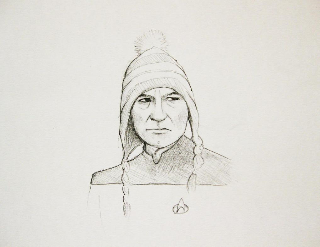 Picard in a woolly hat by OcularReverie on DeviantArt