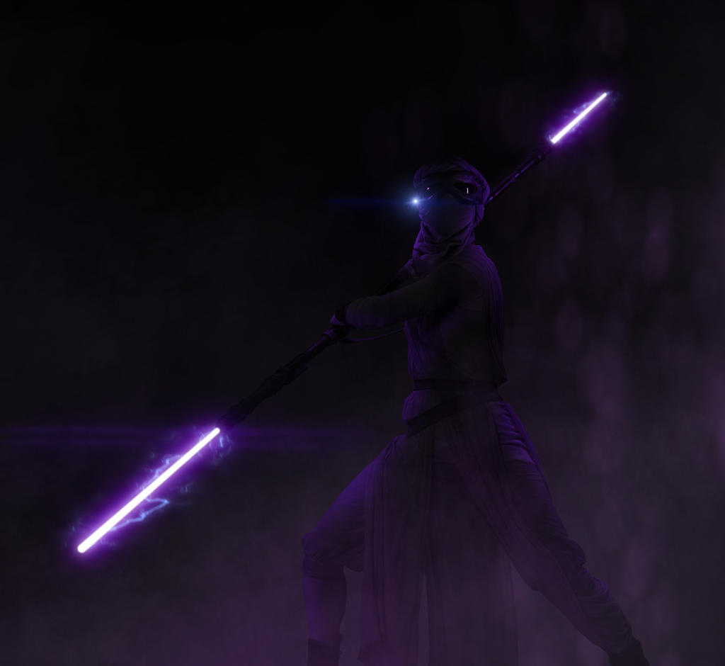 Rey Dark Jedi Version by LitgraphiX