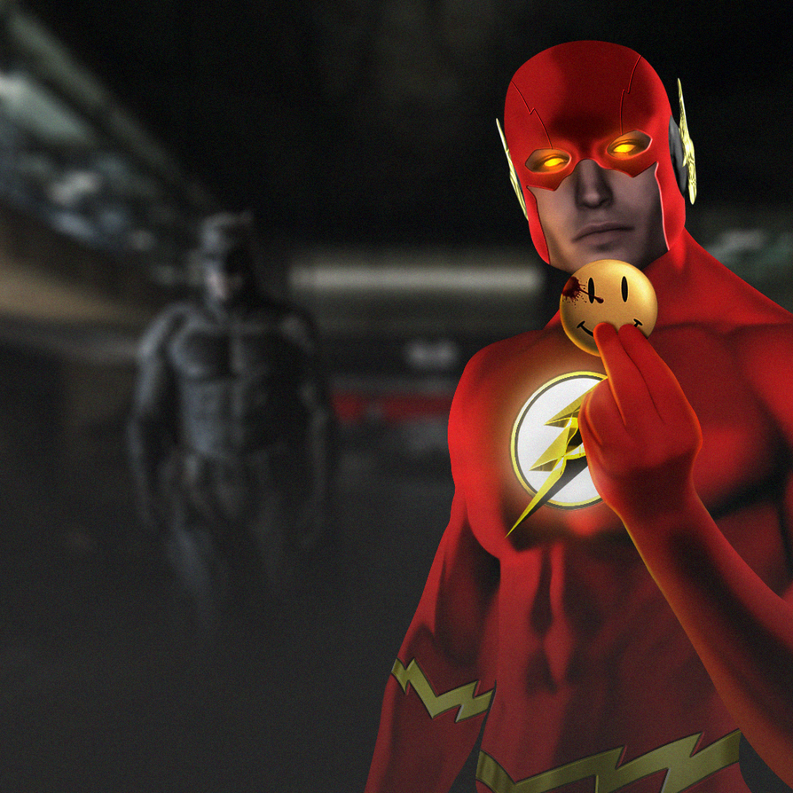 The Button - Ezra Miller as The Flash by LitgraphiX