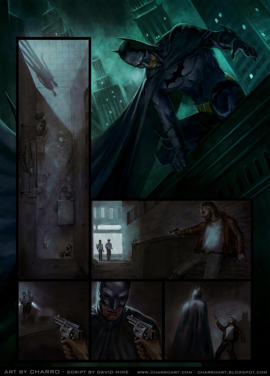 batman comic page by charro-art