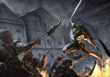 Swords Storm by charro-art