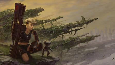 Lone Soldier by charro-art