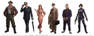 Characters for Pulp RPG Game