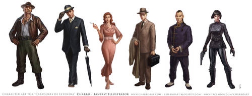 Characters for Pulp RPG Game by charro-art