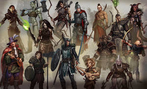 Rise of the Dragon character art 1