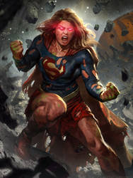 Supergirl's Rage by charro-art