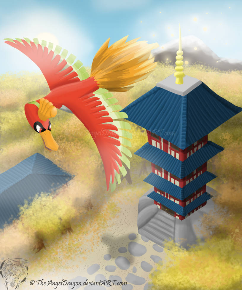The Legend Of The Rainbow Bird Ho-oh By TheAngelDragon On