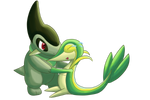 Axew and Snivy