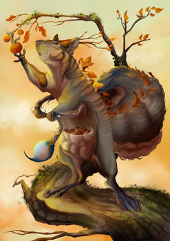 A weird squirrel