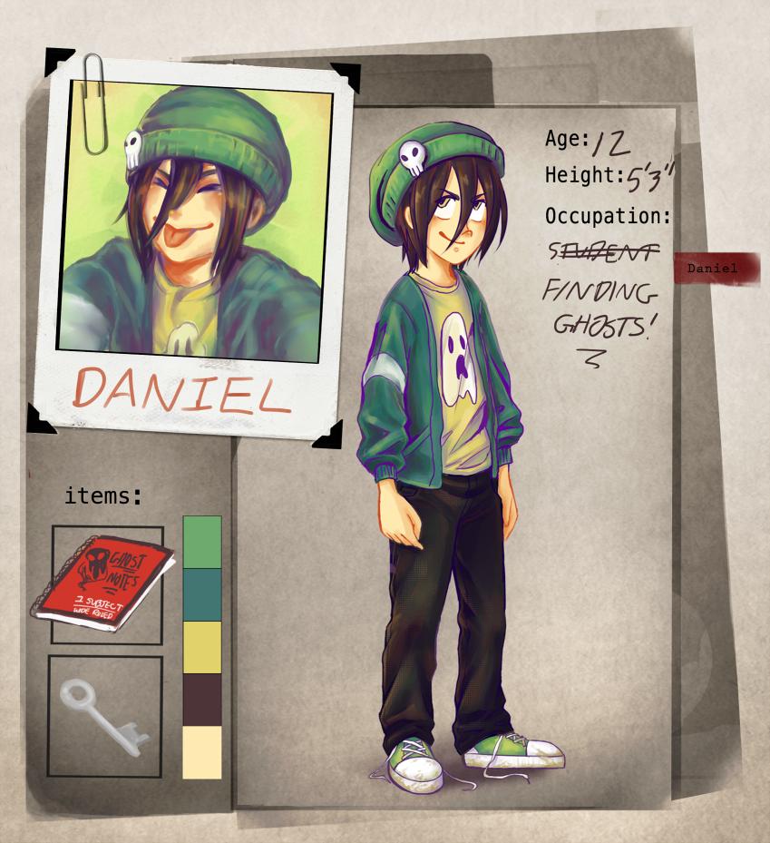 Paranormal Society: Daniel Character Sheet by pockypaint