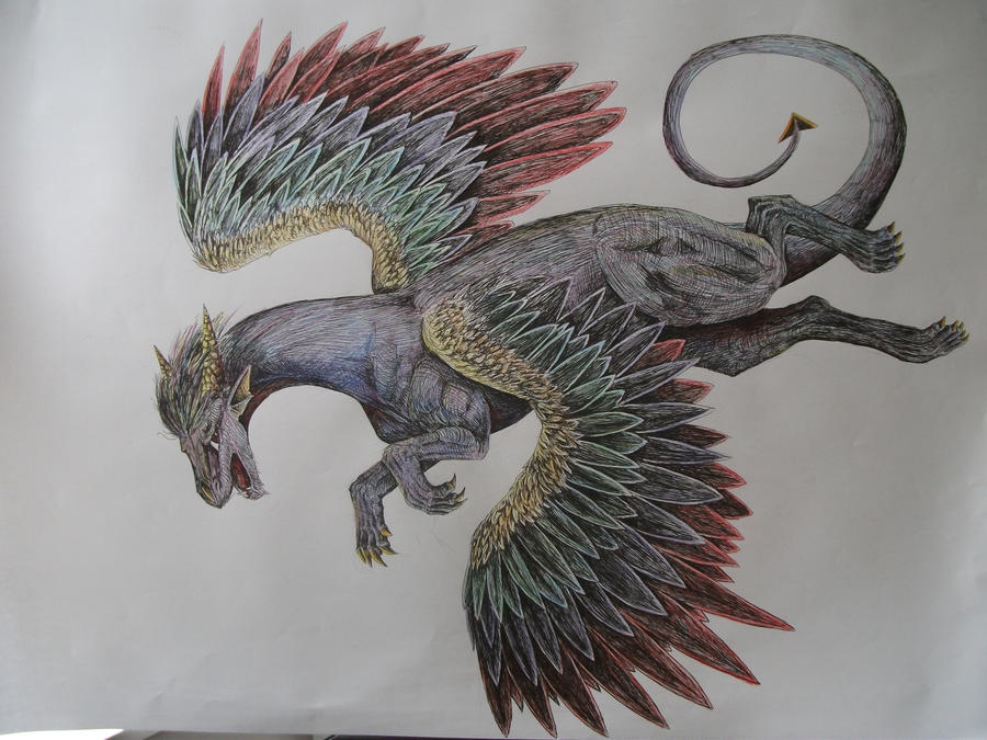 A1 Iridescent Dragon by delilittle