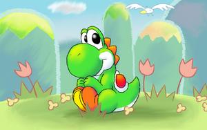 Cute Yoshi by nin10do-gamer