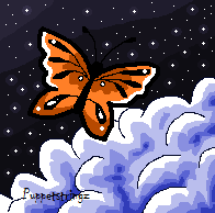 Butterfly in the sky by puppetstringz