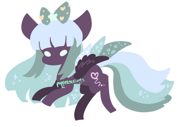 Closed Sparkle Pegasus Adopt by puppetstringz