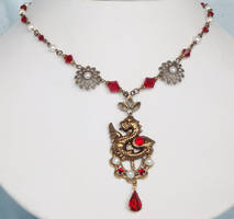 Renaissance Vintage Dragon Necklace by PearlsAndDragons