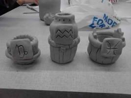 Old Homestuck Clay Pots