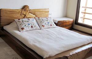 Design: wooden bed -detail by ayhantomak