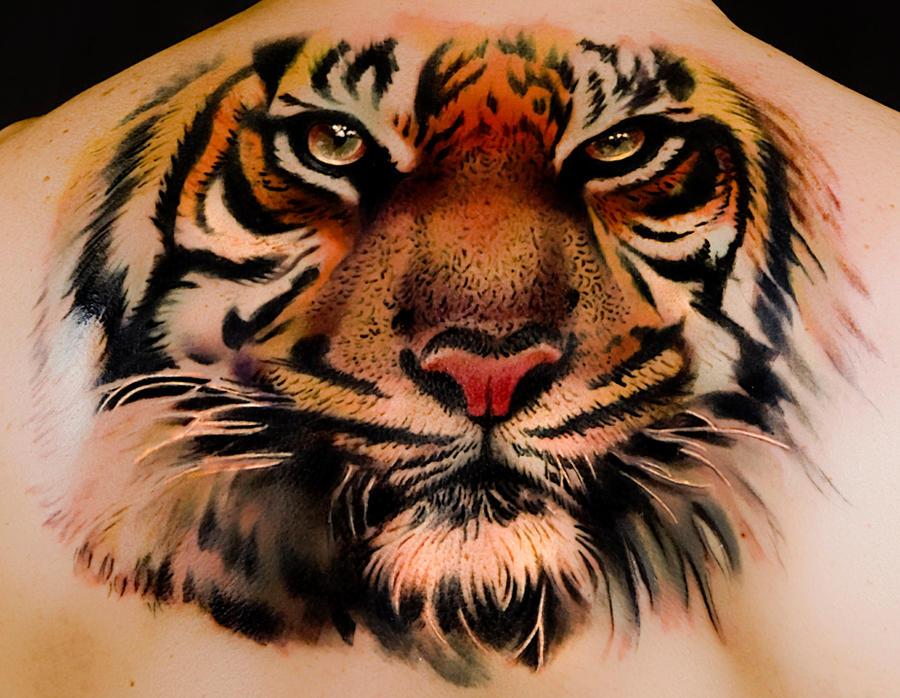 tattoos tiger Andrea Afferni by afferni