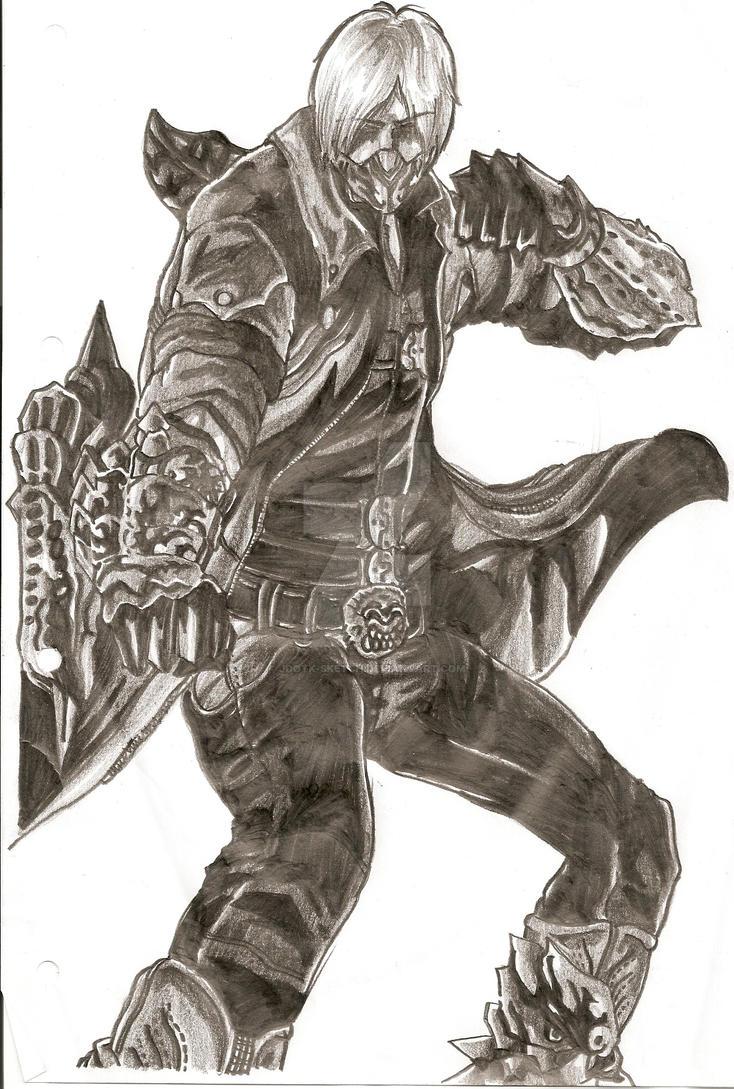 Dante - Gilgamesh by JdotK-Sketch