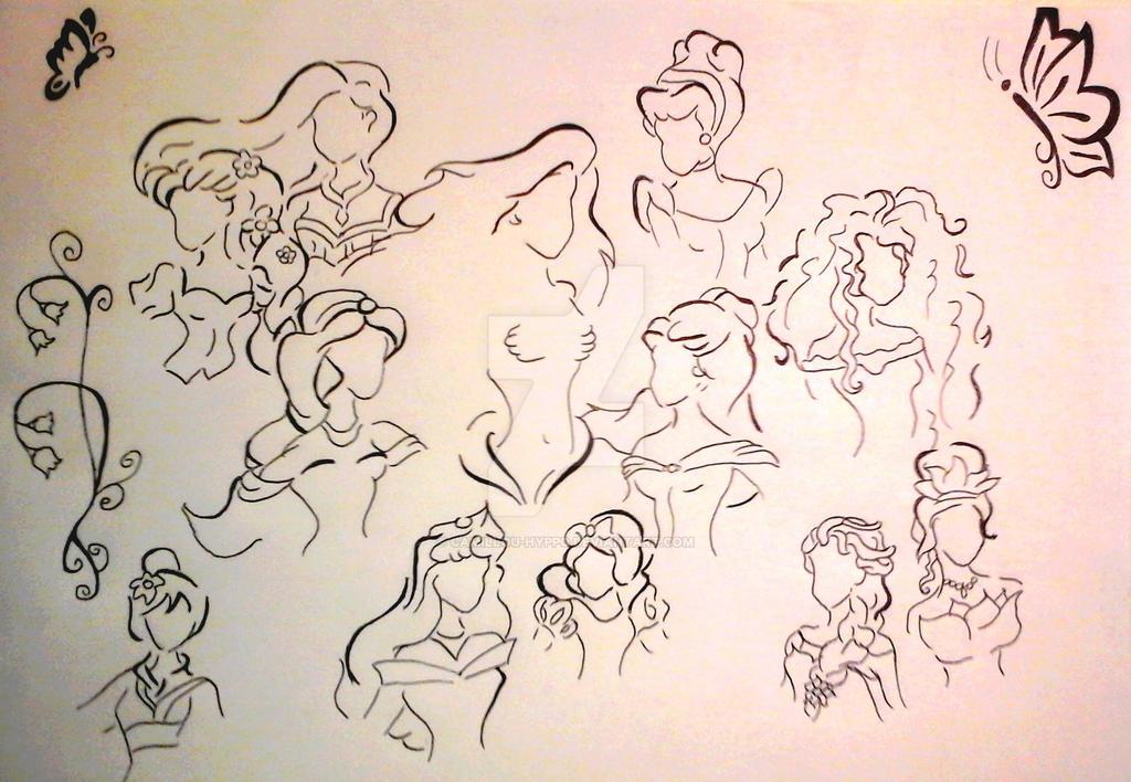 princesses disney by camillou hyppo on deviantart