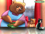 Little Bear - Baking with Mother by imaginativegenius099