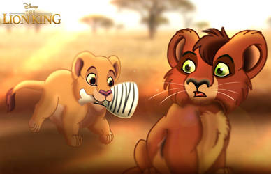 For Panther85: The Lion King - A Gift for Kovu by imaginativegenius099