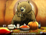 Bear Cub's First Thanksgiving by imaginativegenius099