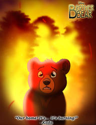 Brother Bear - Koda and the Fire by imaginativegenius099
