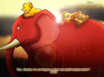 For EshekiAmira: The Lion King - Elephant Ride by imaginativegenius099