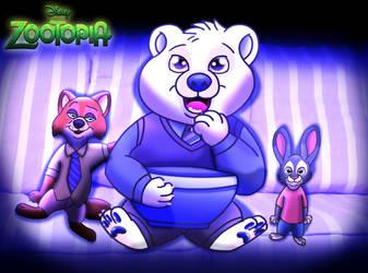 For Credens-Vita: Zootopia - TV Night by imaginativegenius099