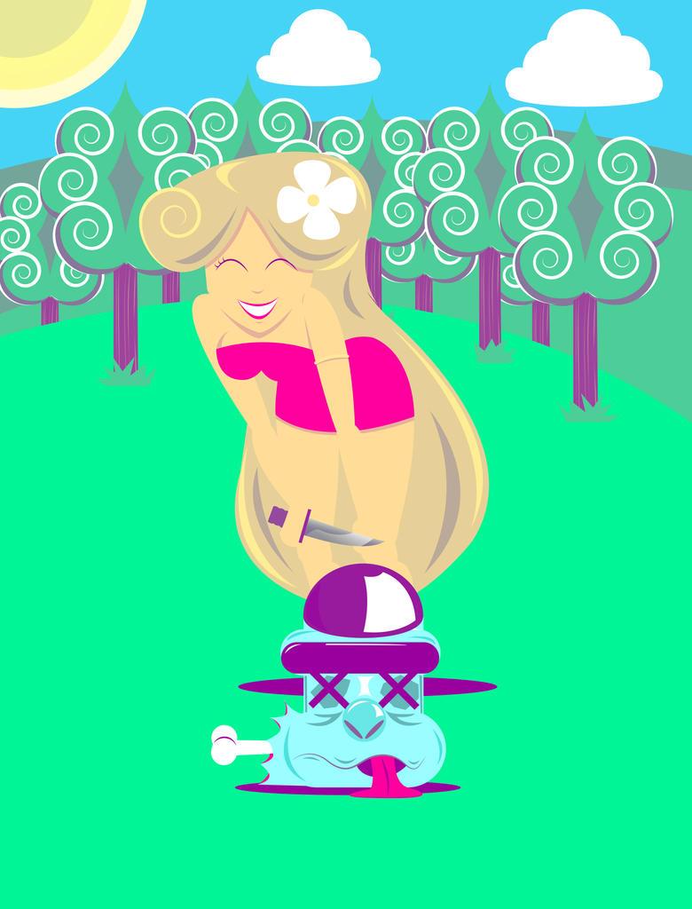 The princess's victim by RaphaelCoelho