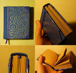 blue and silver book