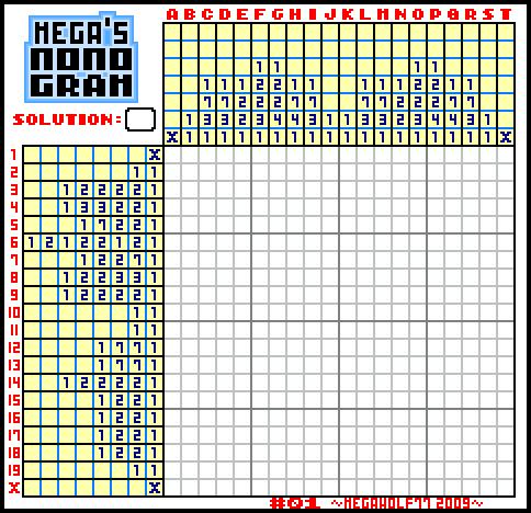 MEGA'S NONOGRAM 01 by megawolf77 on DeviantArt