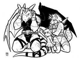 Naughty Dragon by megawolf77