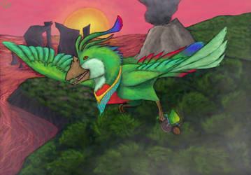 Portabello Parrot by FantasyFungus